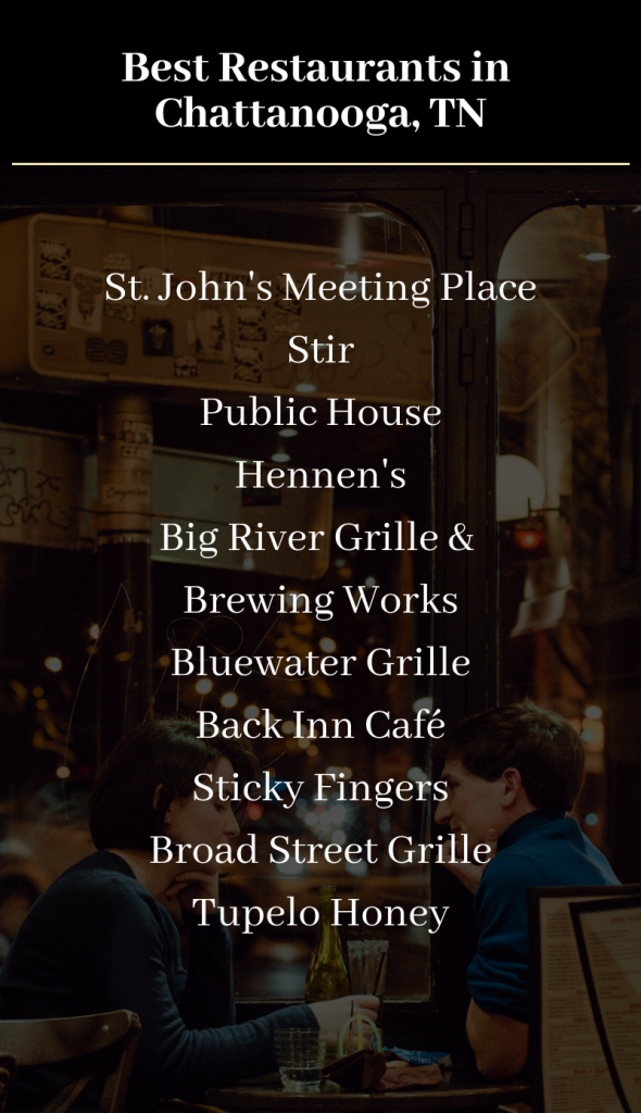 Infographic Showing the Best Restaurants in Chattanooga, TN